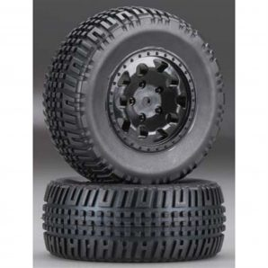 Associated Mounted SCT Tires KMC Hex Wheels (2) ASC91104