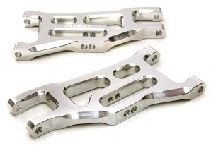 Integy 2WD Billet Mach Silver Front Lower Arm INTC27100S