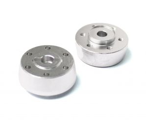 Racers Edge 1/10 Yeti Aluminum Front Wheel HUbs Silver RCE1869S