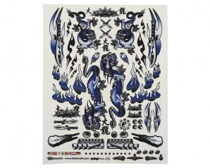 "Firebrand RC Concept Dragon Decal (Blue) (8.5x11"")"