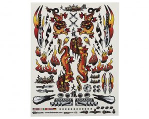 "Firebrand RC Concept Dragon Decal (Orange) (8.5x11"")"