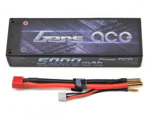 Gens Ace 2s LiPo Battery Pack 50C w/4mm Bullet (7.4V/5000mAh)