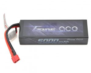 Gens Ace 2S Stick 50C LiPo Battery w/T-Style Connector (7.4V/5000mAh) (Type 1)
