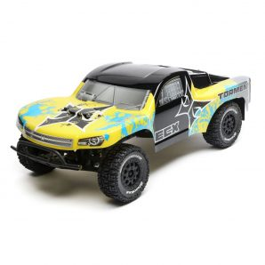 ECX 1/10 Torment 2WD SCT Brushed with LiPo RTR, Yellow/Blue ECX03333T2