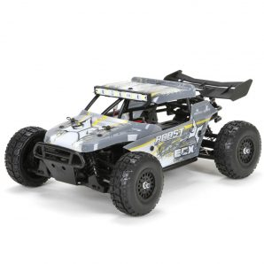ECX 1/18 Roost 4WD Desert Buggy Brushed RTR, Grey/Yellow ECX01005T2
