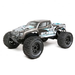 ECX 1/10 Ruckus 2WD Monster Truck Brushless with LiPo RTR, Silver ECX03314