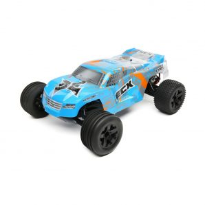 ECX 1/10 Circuit 2WD Stadium Truck Brushed with LiPo RTR, Blue/Orange ECX03330T2