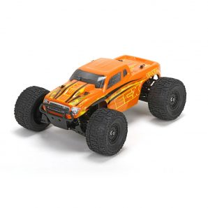 ECX 1/18 Ruckus 4WD Monster Truck RTR, Orange/Yellow ECX01000T2