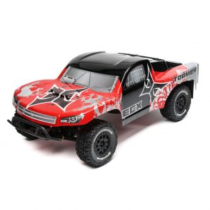 ECX 1/10 Torment 2WD SCT Brushed with LiPo RTR, Red/Silver ECX03333T1