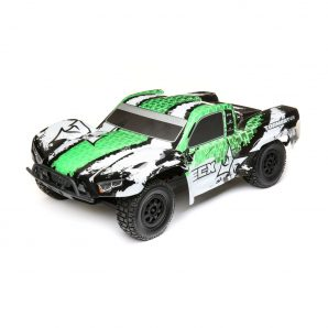 ECX 1/10 Torment 4WD SCT Brushed RTR, White/Green ECX03243T2