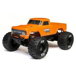 ECX 1/10 Amp Crush 2WD Monster Truck Brushed RTR, Orange ECX03048T2