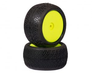 "AKA ""EVO"" Chain Link 2.4"" Rear Pre-Mounted Tires (2) (Yellow)"