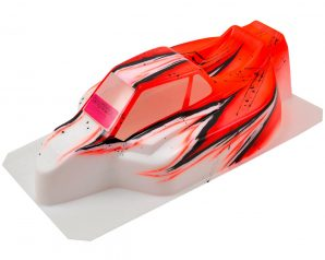 "Bittydesign ""Force"" Kyosho MP9 TKI2/3/4 1/8 Pre-Painted Buggy Body (Wave/Red)"
