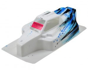 "Bittydesign ""Force"" Mugen MBX8/MBX7 1/8 Pre-Painted Buggy Body (Grunge) (Blue)"