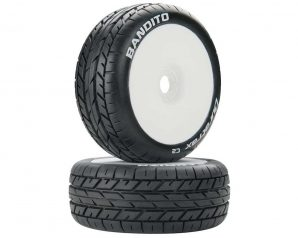 DuraTrax Bandito 1/8 Pre-Mounted Buggy Tire (White) (2) (C2)