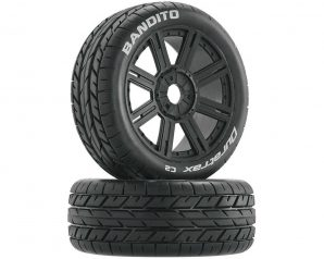 DuraTrax Bandito Pre-Mounted Buggy Tire (Black)(2)(Soft - C2)