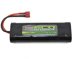 EcoPower 6-Cell NiMH Stick Pack Battery w/T-Style Connector (7.2V/3000mAh)